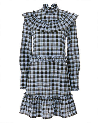 Ganni Charron Plaid Mini Dress