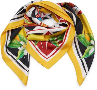Dolce & Gabbana Multi-Print Silk-Twill Scarf