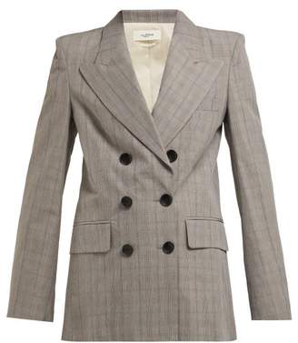 Etoile Isabel Marant Iliane Checked Blazer - Womens - Light Grey