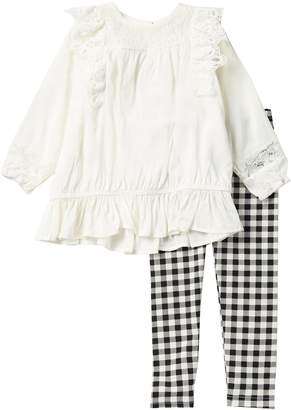 Jessica Simpson Lace Top & Legging Set (Toddler & Little Girls)