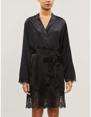 Aubade Soie d'Amour silk-satin robe