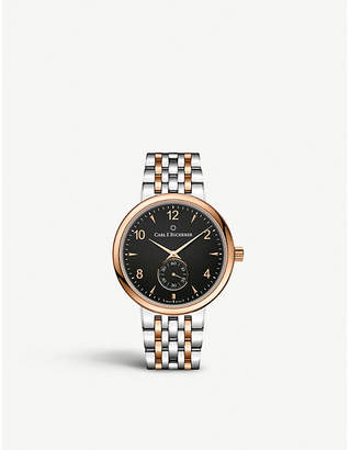 Rosegold CARL F BUCHERER 00.10316.07.36.21 Adamvi stainless steel and 18ct rose-gold automatic watch
