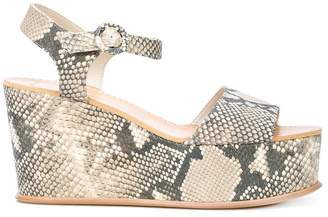 Dolce Vita Datiah python platform sandals