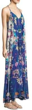 Rococo Sand Silk Crepe Maxi Dress