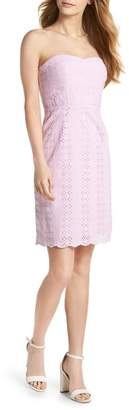 J.Crew J. CREW Strapless Eyelet Sheath Dress