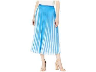 BCBGMAXAZRIA Two-Tone Pleated Midi Skirt