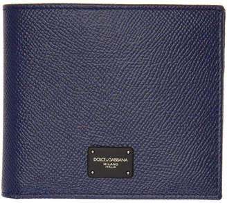 Dolce & Gabbana Blue Logo Wallet