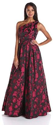 Carmen Marc Valvo Infusion Women's One Shoulder Printed Taffeta Ball Gown $328 thestylecure.com