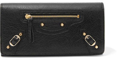 Balenciaga  Balenciaga - Classic Money Textured-leather Wallet - Black