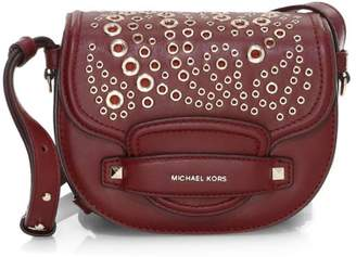 26607572414c MICHAEL Michael Kors Cary Grommet Leather Saddle Bag