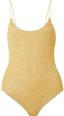 Oséree - Lumière Stretch-lurex Swimsuit - Gold