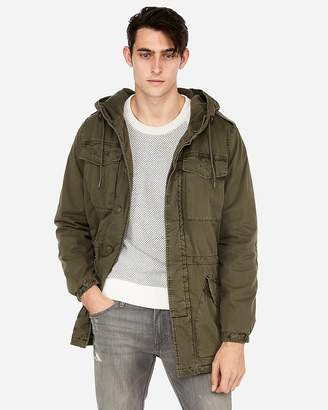 Express Lined Cotton Hooded Field Jacket