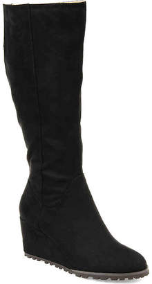 Journee Collection Parker Wide Calf Wedge Boot - Women's
