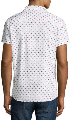 Noize Amstrdm Sunglasses-Pattern Short-Sleeve Button Front Shirt