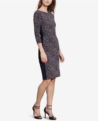 Lauren Ralph Lauren Printed Jersey Dress $139 thestylecure.com
