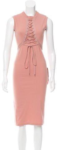 Christian Dior Lace-Up Midi Dress
