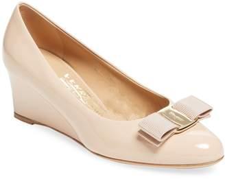 Salvatore Ferragamo Women's Leather Wedge Sandal