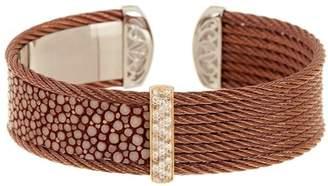 Alor Brown-Plated Stainless Steel Embellished Bracelet