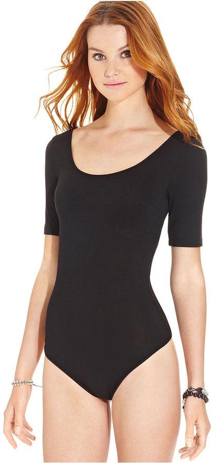 American Rag Top, Short Sleeve Scoop-Neck Bodysuit
