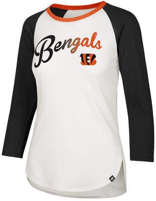 '47 Women's Cincinnati Bengals Splitter Ombre Raglan T-Shirt