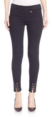 True Religion Eyelet Hem Skinny Pants $169 thestylecure.com