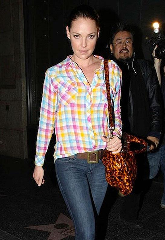 Kendra Original Plaid Button Down in Rainbow - as seen on Katherine Heigl - by Rails