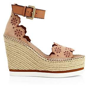 See by Chloe Women's Laser Cut Wedge Espadrille Sandals