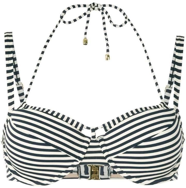 Holi Vintage striped double-strap bikini top