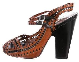 Tabitha Simmons Laser-Cut Leather Sandals
