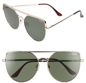 Quay Women's X Jasmine Sanders Santa Fe 65Mm Aviator Sunglasses - Gold/ Green