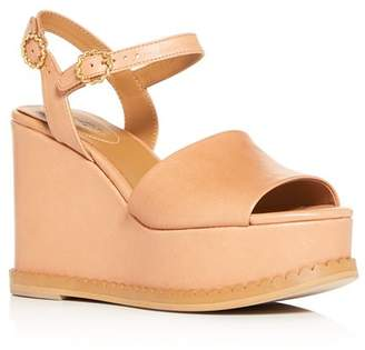 See by Chloe Women's Carrie Scalloped Platform Wedge Sandals