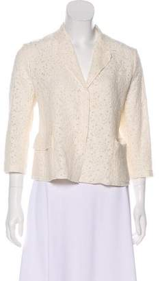 Nina Ricci Notch-Lapel Lace Jacket