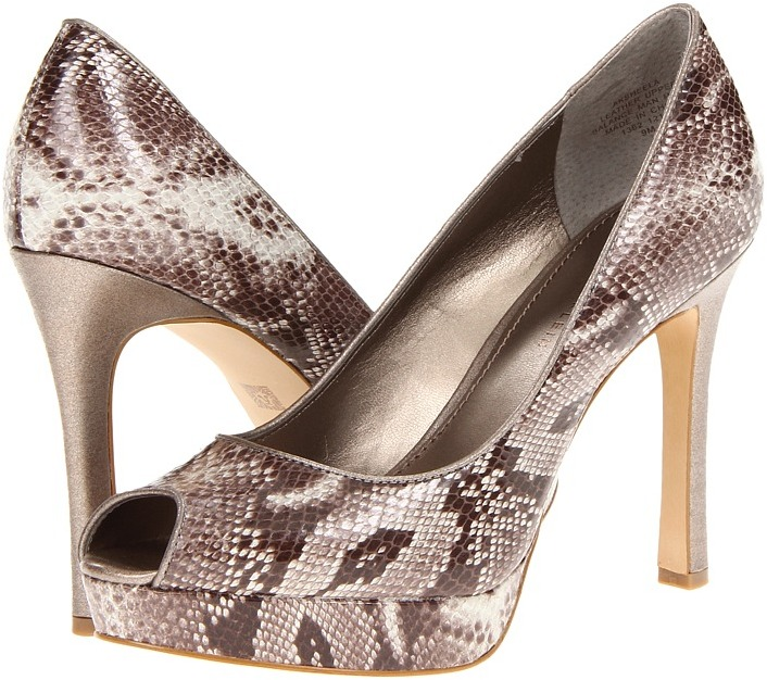 Anne Klein Sheela (Pewter Snake Leather) - Footwear