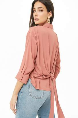 Forever 21 Woven Tie-Back Top