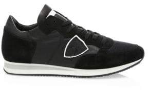 Philippe Model Mesh& Leather Sneakers