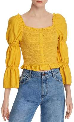 Lost and Wander Lost + Wander Smocked Cropped Top