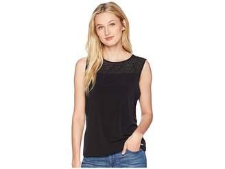 Calvin Klein Sleeveless Woven Pullover Top Women's Clothing