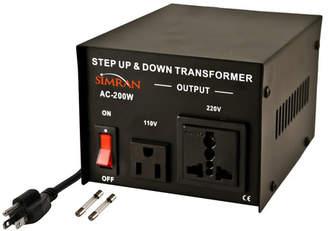 Simran Step Up/Down Voltage 200W Electronic Transformer