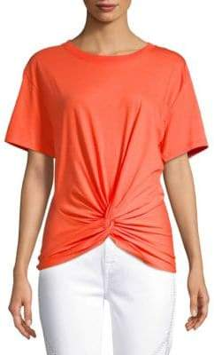 7 For All Mankind Knot-Front Tee