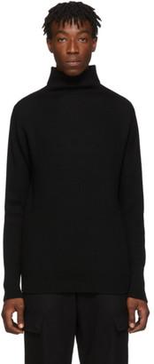 Barena Black Cimador Mock Neck Sweater