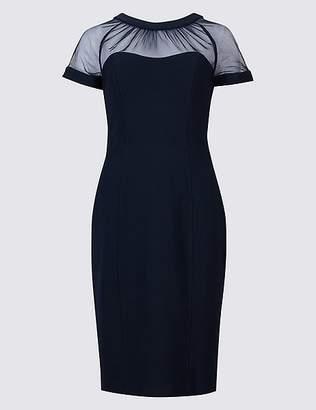 Marks and Spencer Mesh Yoke Short Sleeve Bodycon Dress