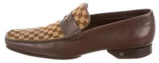 Louis Vuitton Damier Ponyhair Penny Loafers