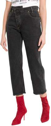 Monse Leather Patch Jeans