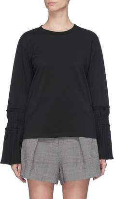 3.1 Phillip Lim Pleated tie cuff long sleeve T-shirt