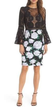 Tadashi Shoji Gower Floral Neoprene Sheath Dress