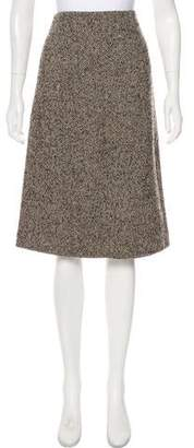 DKNY Knee-Length Tweed Skirt