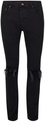 Black Stretch Slim Ripped Jeans $75 thestylecure.com