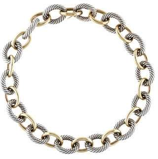 David Yurman Two-Tone Extra Large Oval Link Chain Necklace
