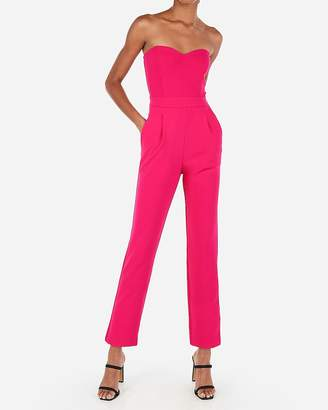7cf56dfceb3 Express Strapless Sweetheart Neck Jumpsuit