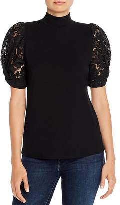Generation Love Alanna Lace-Puff-Sleeve Top